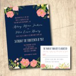 Coral and navy wedding invitation - www.etsy.com/shop/LivingHueDesign